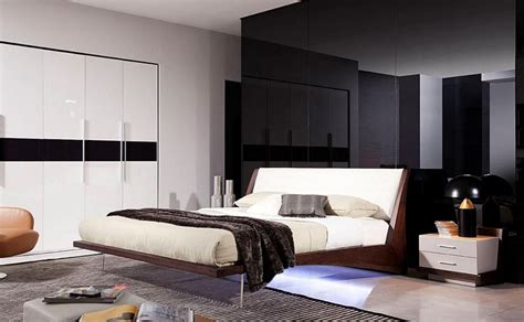 crisp modern condo bedroom furniture  uncluttered