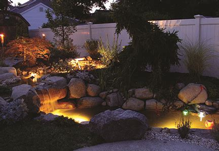 koi pond lighting ideas lighting options decoration ideas for your pond tetra aquarium