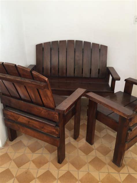 juego de muebles de madera pura usados bs  en