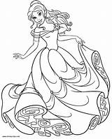 Belle Coloring Princess Pages Disney Beast Beauty Printable Sheets Disneyclips Colouring Christmas Books Cinderella Księżniczki Coloriage Printables sketch template