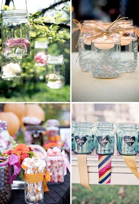 jar decor ideas mason jar ideas for weddings weddings by lilly