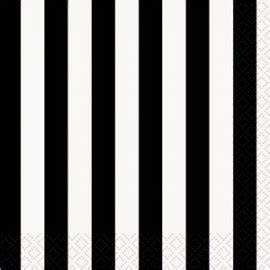 Papier Peint Rayé Noir Et Blanc : serviettes cocktail en papier ray noir blanc pour sweet ~ Dailycaller-alerts.com Idées de Décoration