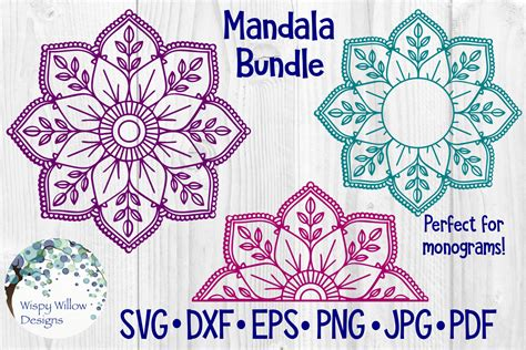Well you're in luck, because here they come. Huge Mandala Bundle | 36 Designs - SoFontsy