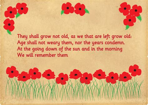 early learning resources act  remembrance poster
