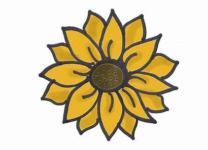 Clipart Sunflower Cu Ok June Easy Simple