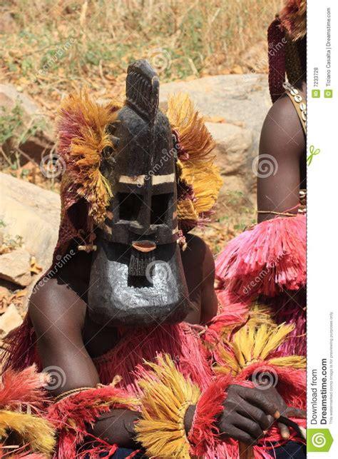dogon tribe funeral masquerade editorial stock photo