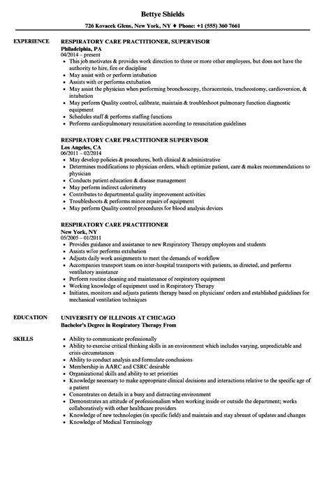 Wiki How To Write A Resume by Respiratory Therapist Resume Sle Care Practitioner