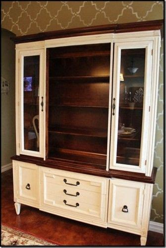 china cabinet  chalk paint  stain