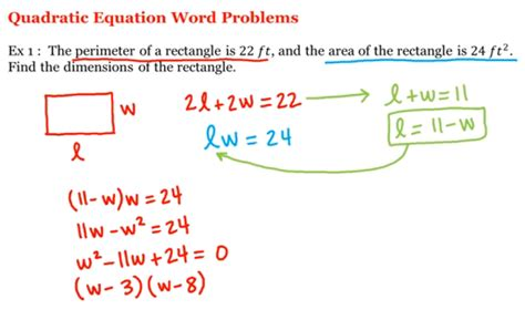 Math 1a1b Precalculus Quadratic Equation Word Problems  Uc Irvine, Uci Open