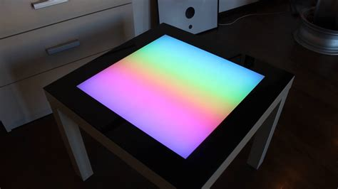 Led Coffee Table Arduino Led Table Colored Glass Table What Is The Best Color For A Living Room Australia Asian Ideas Vintage Style Furniture Decorating Pictures Autumn Le Themes Rooms