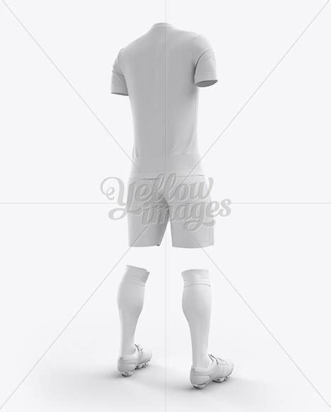 Are you looking jersey mockup to showcase your artwork? Download Men's Full Soccer Kit with V-Neck Shirt Mockup ...