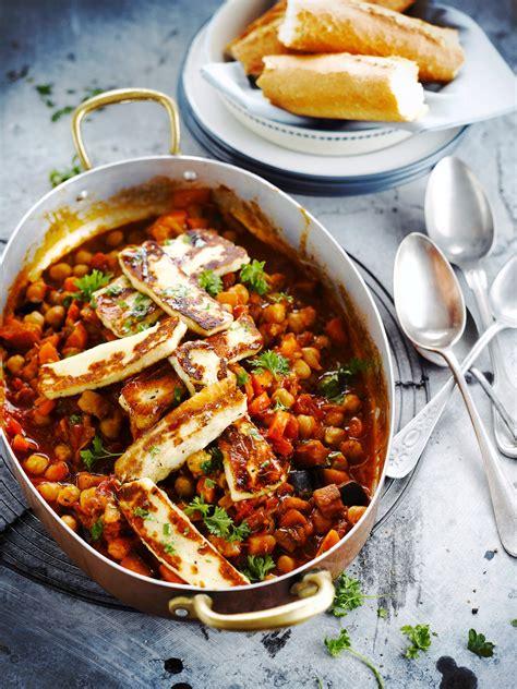 recette de cuisine minceur ragoût végétarien de pois chiches à l halloumi régal