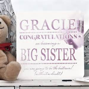 Congratulations Big Sister Card