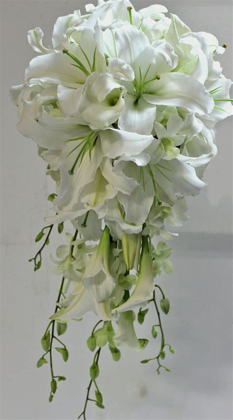 white lily bouquet  images lily bouquet wedding