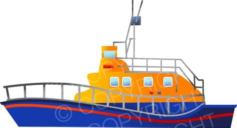 Boat Rescue Cartoon by Rnli Rescue Lifeboat Clipart Prawny Clipart Cartoons