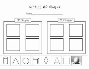 Sorting Shapes By Attributes Worksheets For Kindergarten