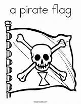 Flag Coloring Pirate Plank Walk Jolly Roger Outline Noodle Twistynoodle Built California Usa Twisty Ll Cursive sketch template