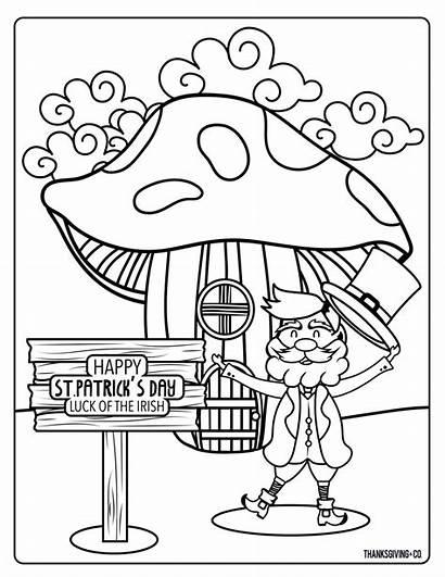 St Coloring Patricks Pages Printable Patrick Leprechaun