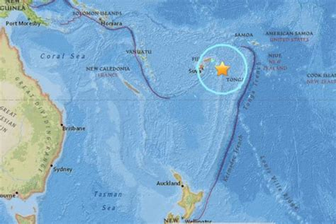 major earthquakes strike  fiji indonesian island