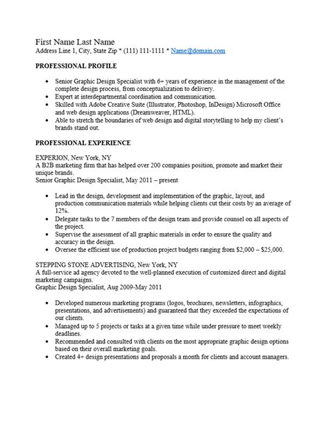 Rich Text Format Resume Template by Free Professional Graphic Designer Resume Template Sle Ms Word
