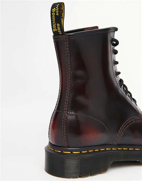 lyst dr martens  cherry red arcadia  eye boots