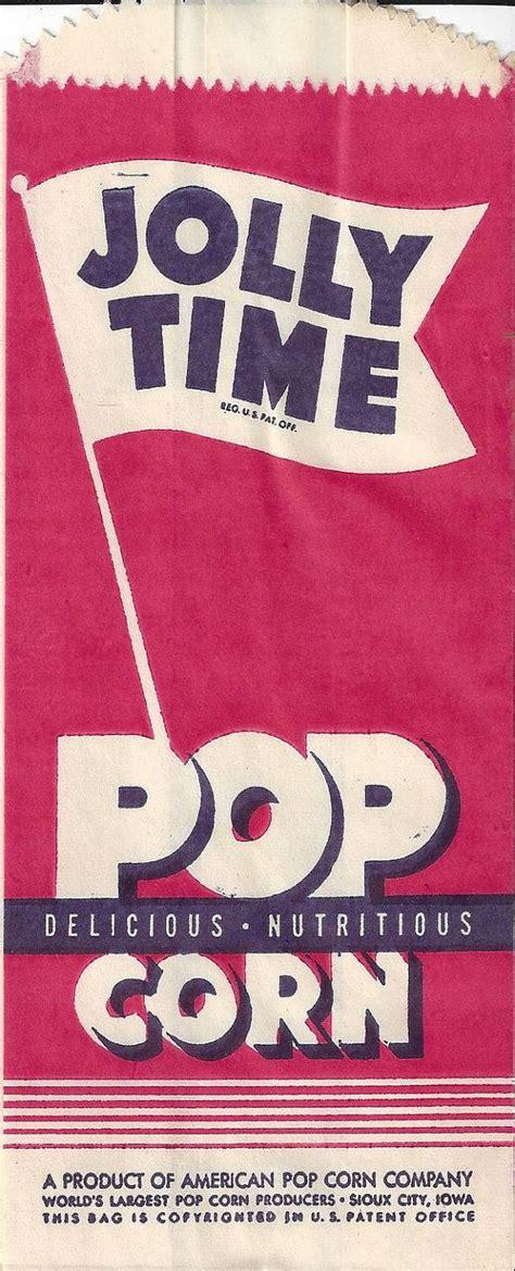 Jolly Time Vintage Popcorn Bag, 1950s | Papier | Pinterest