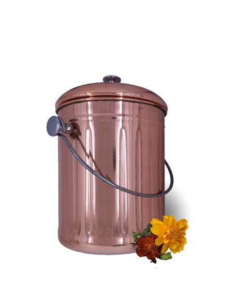 countertop compost bin copper countertop compost bin crock for indoor