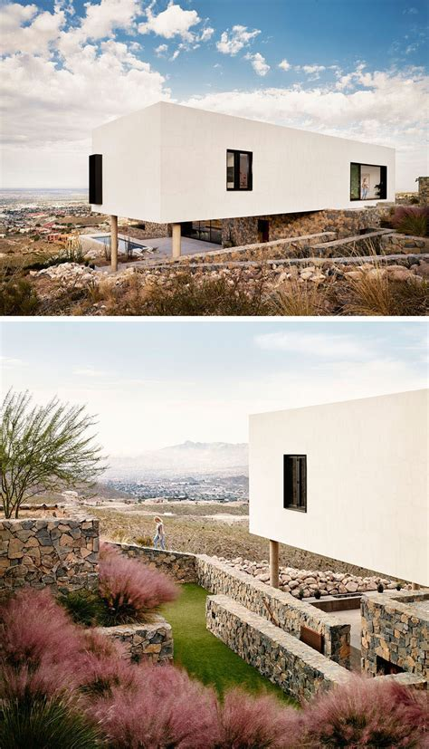 house overlooks  desert landscape   hillside