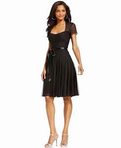 JS Collections Dress, Short Sleeve Satin from Macys