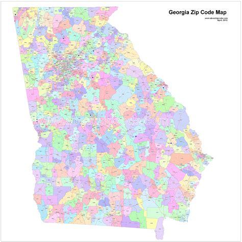 Zip Code Map Georgia   Zip Code Map
