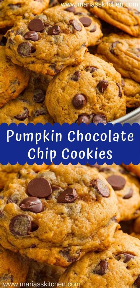 I have nothing against those cookies, but i want a cookie that i can really sink my teeth into. Best Ever Pumpkin Chocolate Chip Cookies - Maria's Kitchen ...