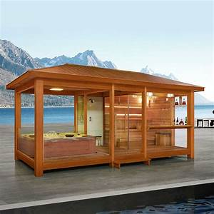 Ein saunahaus mit integriertem whirlpool blog eago for Whirlpool garten mit leeb balkone preise