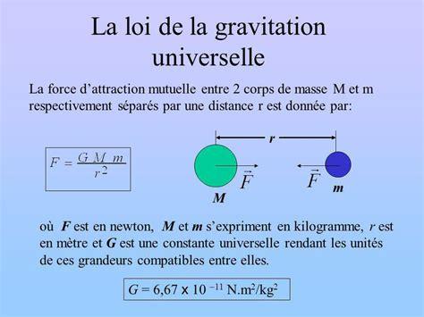 Points Essentiels La Force Gravitationnelle;  Ppt Video