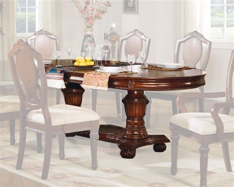 acme furniture nostalgia casual pedestal pedestal table classique by acme furniture ac11830a