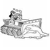 Coloring Bulldozer Digger Dirt Pulling Pages sketch template