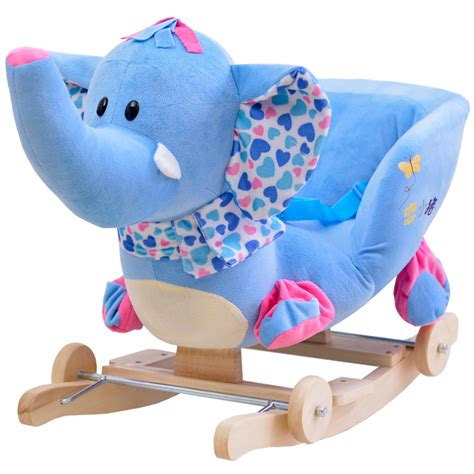 kingtoy plush baby rocking chair children wood swing seat