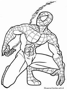 Mewarnai, Gambar, Spiderman