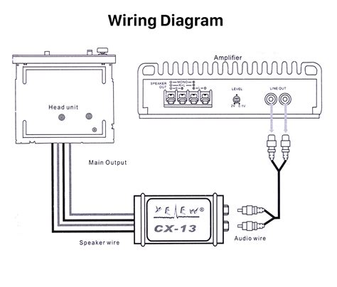 Line Level Converter Wiring Diagram on line level output, line output converter, pc composite diagram, line lock wiring diagram, microphone connection diagram, install line out converter diagram, bose 321 connection diagram, static phase converter diagram, line to rca converter,