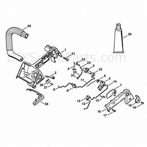 Stihl 020 Chainsaw  020t  Parts Diagram  Handle Housing