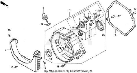 honda em5000sx a generator jpn vin ea7 1000001 parts diagram for crankcase cover