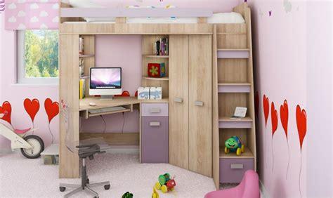 hauteur bureau ergonomie lit en hauteur combin avec bureau armoire et rangement intgr
