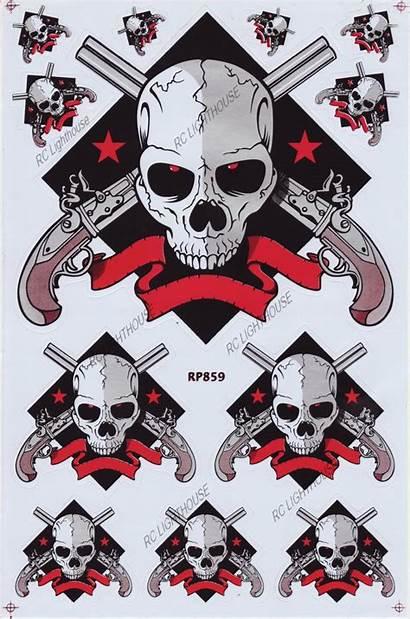 Skull Sticker Sheet Rc Decals Stickers