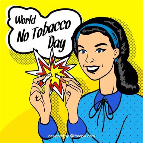anti raucher farbe jahrgang anti raucher tag hintergrund gezeichnet