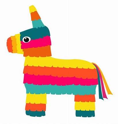 Pinata Clipart Vector Background Colorful Clip Fiesta