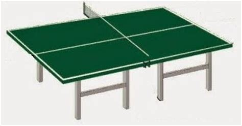 Ukuran Lengkap Meja Tenis Meja Edukasi Center
