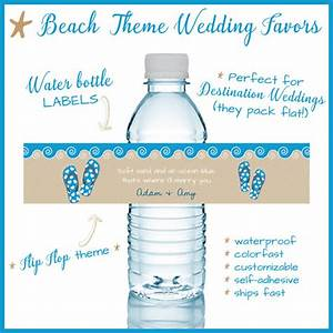 five examples of beach wedding themes With beach wedding water bottle labels