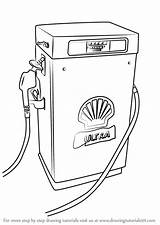 Gas Pump Drawing Draw Step Sketch Places Tutorials Learn Sketches Getdrawings Paintingvalley sketch template