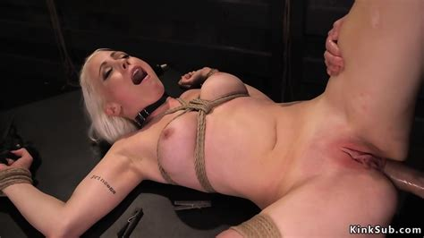 Busty Tied Up Blonde Anal Fucked Eporner