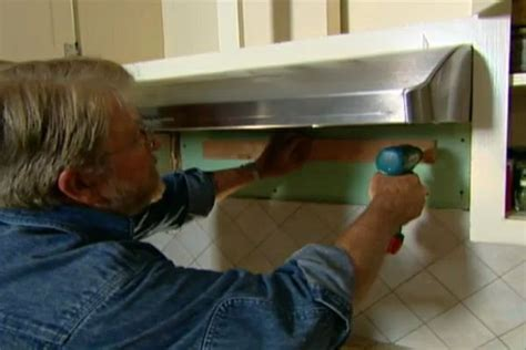 remove  install  vent hood ron hazelton