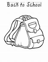 Backpack Coloring Pages Sheet Preschool Welcome Printable Template Sheets Bus Popular Coloringhome Pixar Disney Activity Library Clipart Creativity Develop Recognition sketch template